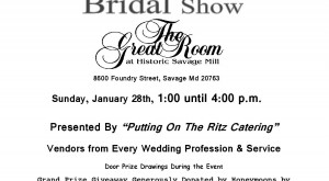 Bridal Show – January 28th!
