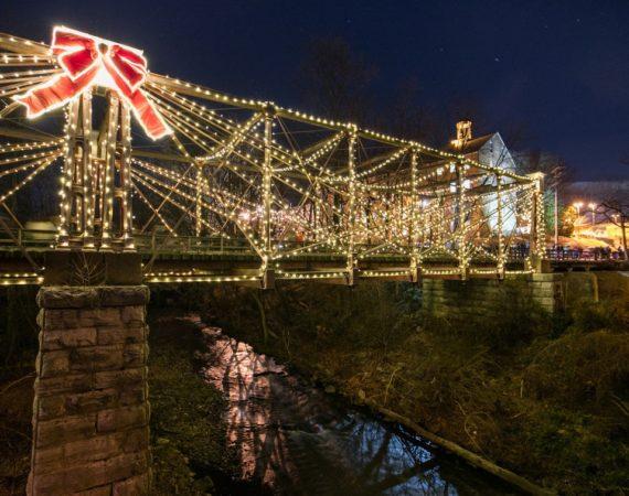 Bollman Bridge Lighting & Magic at the Mill
