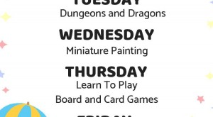 Family Game Store's Event Schedule!